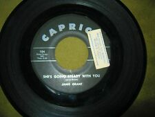 Janie Grant - Triangle / He's Going Steady With You - 45 RPM Plays VG+ - Teen