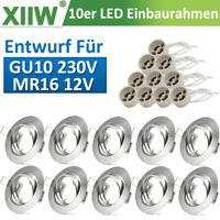 10 Pack LED Einbaustrahler Einbaurahmen GU10 Set 230V Einbauspot Strahler Rahmen