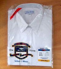 Girls TRU FORM Size 32in Long Sleeve School Uniform Blouse Tie Collar White