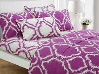 Chic Home Arianna 6 Piece Sheet Set with Pillowcases Ikat Medallion Lavender