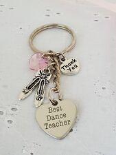 BALLET TEACHER THANK YOU BEST DANCE TEACHER KEYRING BAG CHARM LEAVING GIFT