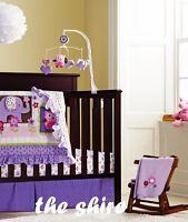 Baby Bedding Crib Cot Quilt Sheet Set-NEW 8cs Quilt Bumpers Sheet Dust Ruffle
