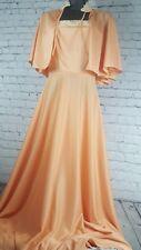 Vintage Woman ILGWU Light Orange Ivory Lace NWT Very Old 2 PC Dress Half Maxi 10
