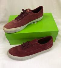 Mens Huf Essex Wine Red Gold Detail Velor Skate Shoes UK Size 8 BNIB Damaged