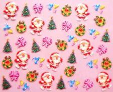 Accessoire ongles : nail art- Stickers noël : père noël , rennes , sapins