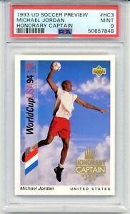 1993 Upper Deck Michael Jordan Soccer Card #HC3 Honorary Captain Rare MINT PSA 9