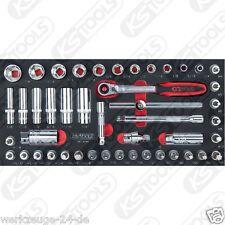 KS Tools BBA CROMO 3/8'' INSIEME zoccolo, 46-tlg 1/3 systemeinlage 783.4046