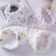 Baby Boy Girl Kids Bibs Cotton Gauze Saliva Towel Bibs Feeding Bandana