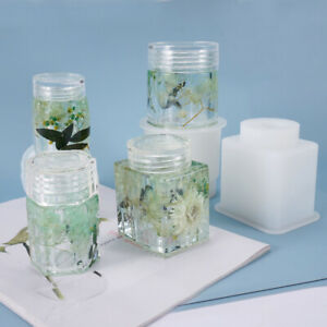 Silicone Mould Storage Bottle Sealed Jar With Lid Crystal Resin Epoxy Mold Gift