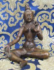 Antique Master Quality Handmade Tibetan Bronze Green Tara, Nepal