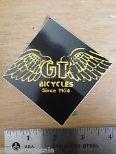 "2 X NEW GT Bicycles Since 1974 Sticker Decal 3x3"" Vintage BMX Old Mid New School"