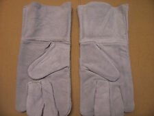 COWHIDE WELDING GLOVES  ( L / XL ) LEATHER WORK GLOVES  (NEW)