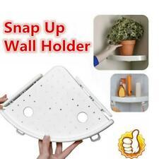 Bathroom Punch free Triangular Shower Shelf Corner ABS Storage Holder rink_