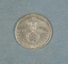 1938-A NAZI GERMANY 2 MARK COIN - SWASTIKA - SILVER