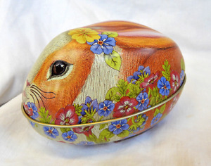 Bunny / Rabbit Shape Tin - Easter Egg Box / Gift Tin - Assorted Colours - BNWT