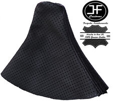 BLACK STITCH MANUAL PERFORATED LEATHER GEAR GAITER FITS AUDI TT COUPE 1998-2006