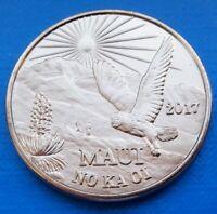 Maui Hawaii Two Trade Dollars 2017 UNC Owl Bird