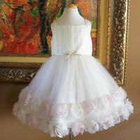 MONSOON Girls Tulle Rosette Dress 6 Fireflies Chasing Dreams Nwot
