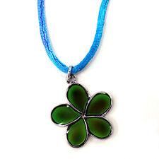 NEW Mood Color Change Plumeria Hawaii Island Flower Pendant Necklace