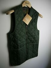 Barbour Men's Quilted Waistcoat, Vest, Olive Green, New With Tags, Size 34