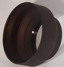 77mm Soft Rubber Lens Hood for DSLR Cameras