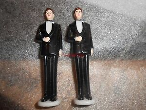 Package of Vintage Wilton Groomsmen Wedding Cake Toppers Gay LGBT