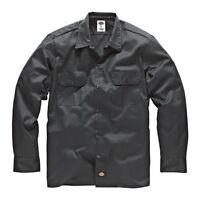Dickies - Long/S Work Shirt Charcoal Grey Arbeitshemd Hemden Grau