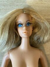 RARE 1968 Mattel DRAMATIC LIVING BARBIE Poseable Doll BLONDE Rotted Lashes