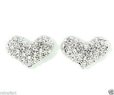 W Swarovski Crystal Clear Heart Love Cute Charm New Elegant Earrings