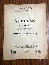 EARLY Original 1938 J Stevens Arms Gun Catalog Rifle Shotgun Pistol w Price List