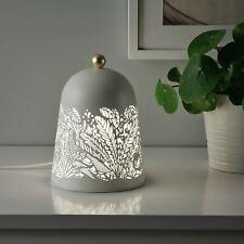 Ikea SOLSKUR Lampe de table LED, blanc, couleur laiton