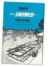 1969 Snowco Boat Trailor Brochure Omaha NE shows all models