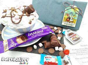 Personalised Kinder Bueno Hot Chocolate Hamper Box Gift Set Birthday Present