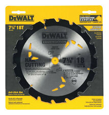 """Dewalt Nail Cutting Portable Saw Blade 7-1/4 """" Dia 18 Teeth 5/8 """" Round"""