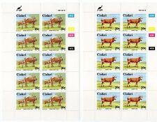 CISKEI afrique du sud 2 blocs feuillets de 10 timbres neufs luxe BOVINS