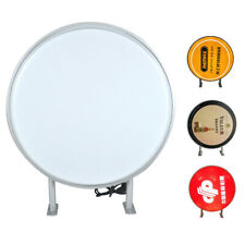 Led 24 Double Sided Outdoor Round Projecting Light Sign Waterproof