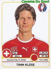 106 TIMM KLOSE SWITZERLAND NORWICH CITY.FC STICKER EURO 2016 PANINI