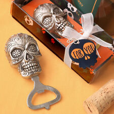 24 Sugar Skull Bottle Opener Gothic Bridal Shower Wedding Favors