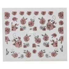 3D Pink Flowers Design Nail Art Decal Tips Stickers Sheet Manicure Tool ☀