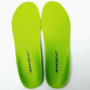 New Superfeet Premium GREEN Insoles Inserts Orthotics Sizes E