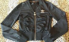 Missy Elliott Adidas Tracksuit Top. Black Size 8. Cropped.