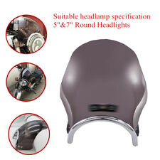 "5&7""Motorcycle Headlight Retro Round Front Windshield Protective Cover Cold Part"