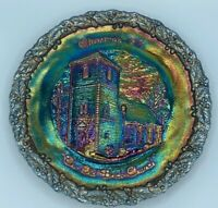 Vtg Fenton 1971 Carnival Iridescent Glass Plate#2 Christmas inAmerica Collect