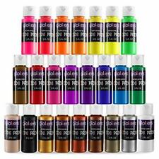 24 2 Oz Color Washable Paint Set for Kids Mix of Tempera Fluorescent & Metallic