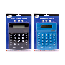 8 Digit Jumbo Desk Calculator - Large Buttons Solar Power Desktop