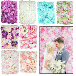 Bouquet Artificial Fake Velvet Flower Hydrangea Wedding Party Decor Wall Panel