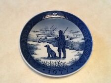 Royal Copenhagen Immervad Bridge 1977 Christmas Plate Denmark