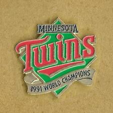 MINNESOTA TWINS 1991 WORLD CHAMPIONSHIP MLB BASEBALL OFFICIAL PIN OLD
