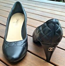 New CHANEL Quilted Heels Shoes Pumps 39.5 $985