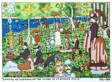 James Rizzi ▪ 2D Farblithografie 1998 ▪ SUNDAY AFTERNOON ON THE ISLAND L.G.JATTE